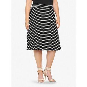 Torrid NWT Stripe Knit Midi Full Skirt SZ 2